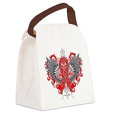 Heart Disease Wings Canvas Lunch Bag