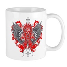 Heart Disease Wings Small Mug