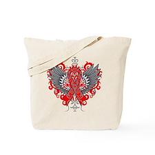Heart Disease Wings Tote Bag