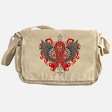 Heart Disease Wings Messenger Bag