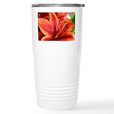 Orange Lilly  Thermos Mug