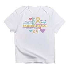 Appendix Cancer Colorful Slogans Infant T-Shirt