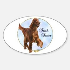 Setter Portrait Oval Decal