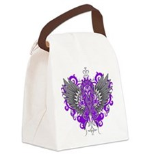 Fibromyalgia Wings Canvas Lunch Bag