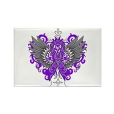 Fibromyalgia Wings Rectangle Magnet