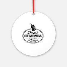 diesel mechanics Round Ornament