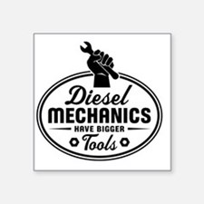 "diesel mechanics Square Sticker 3"" x 3"""