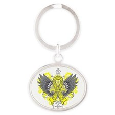 Endometriosis Wings Oval Keychain