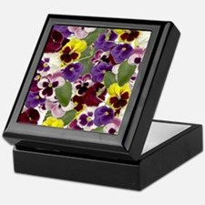 Lovely Pansies Keepsake Box