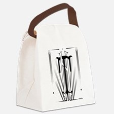 Art Deco Nikola Tesla Canvas Lunch Bag