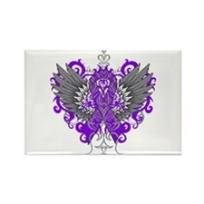 Cystic Fibrosis Wings Rectangle Magnet