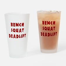 Bench Squat Deadlift Drinking Glass