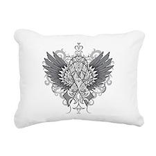 Brain Tumor Wings Rectangular Canvas Pillow