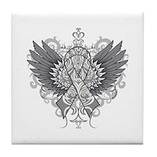 Brain Tumor Wings Tile Coaster