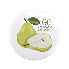 "Go Green 3.5"" Button (100 pack)"