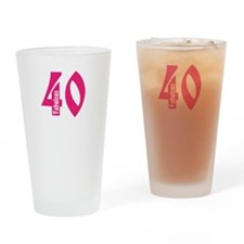 Fabulous 40 Drinking Glass