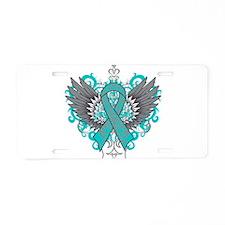 Batten Disease Wings Aluminum License Plate