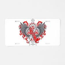 Aplastic Anemia Wings Aluminum License Plate
