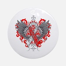 Aplastic Anemia Wings Ornament (Round)
