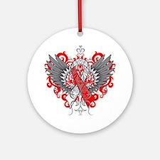 Aplastic Anemia Wings Ornament (Round)