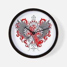 Aplastic Anemia Wings Wall Clock
