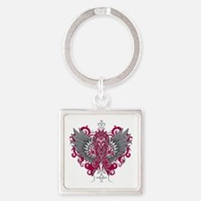 Amyloidosis Wings Square Keychain
