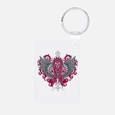 Amyloidosis Wings Aluminum Photo Keychain