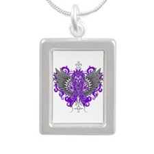 Alzheimer's Disease Win Silver Portrait Necklace