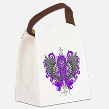 Alzheimer's Disease Wings Canvas Lunch Bag