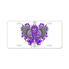 Alzheimer's Disease Wings Aluminum License Plate