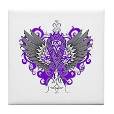 Alzheimer's Disease Wings Tile Coaster