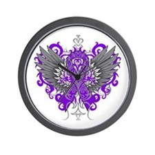 Alzheimer's Disease Wings Wall Clock
