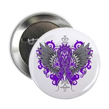 "Alzheimer's Disease Wings 2.25"" Button (100 pack)"