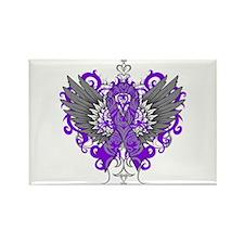 Alzheimer's Disease Wings Rectangle Magnet