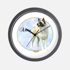 Akita Portrait Wall Clock