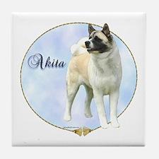Akita Portrait Tile Coaster
