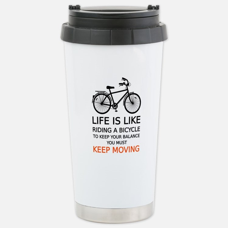 life is like riding a bicycle, word art, text Trav
