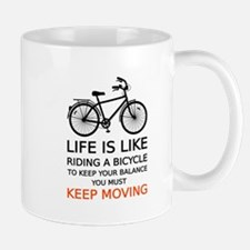 life is like riding a bicycle, word art, text Mugs