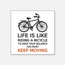 life is like riding a bicycle, word art, text Stic