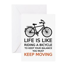 life is like riding a bicycle, word art, text Gree