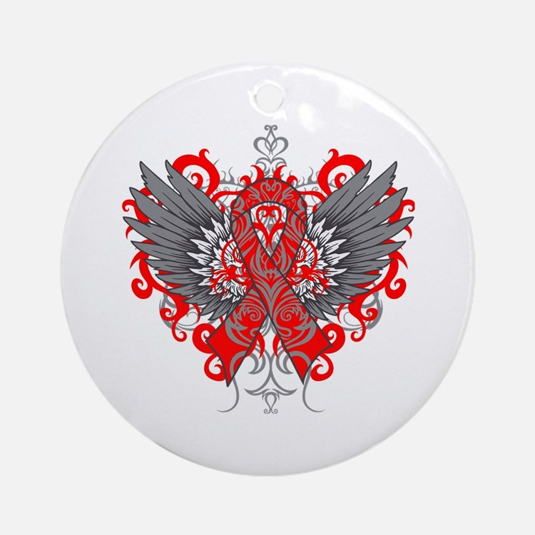 AIDS Wings Ornament (Round)