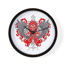 AIDS Wings Wall Clock