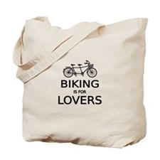 biking is for lovers Tote Bag