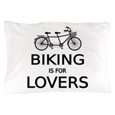 biking is for lovers Pillow Case