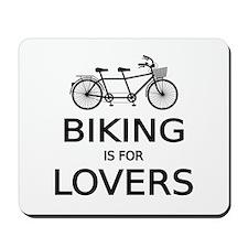 biking is for lovers Mousepad