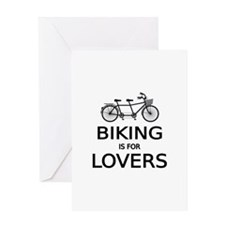 biking is for lovers Greeting Cards