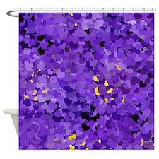 Purple Confetti Hearts Shower Curtain