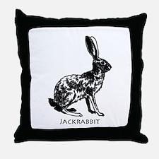 Jackrabbit (illustration) Throw Pillow
