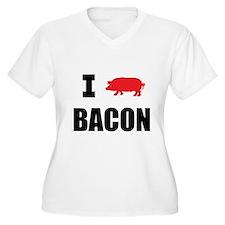 I PIG BACON Plus Size T-Shirt