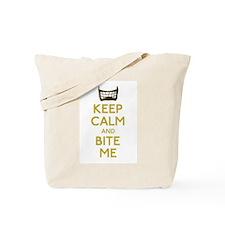 Keep Calm And Bite Me (net) Tote Bag
